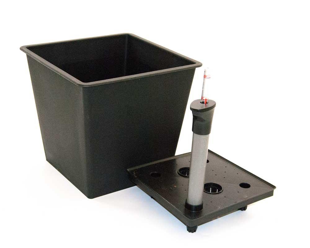 kunststoffeinsatz quadratisch konisch 34x34x31cm schwarz. Black Bedroom Furniture Sets. Home Design Ideas