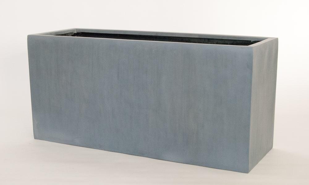 Pflanztrog blumentrog fiberglas 100x40x50cm grau for Garten planen mit pflanzkübel 50 x 50 cm