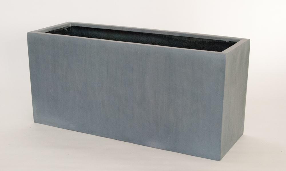 pflanztrog blumentrog fiberglas 80x30x40cm grau. Black Bedroom Furniture Sets. Home Design Ideas