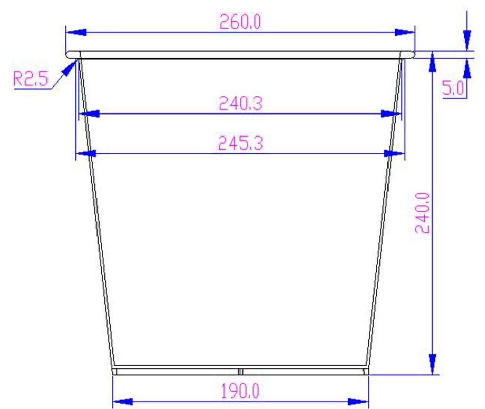 blumenk bel fiberglas anthrazit metallic quadratisch. Black Bedroom Furniture Sets. Home Design Ideas