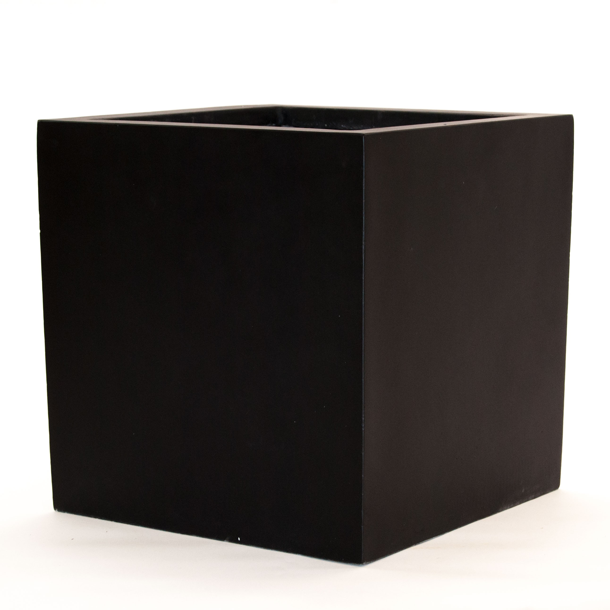 Pflanzk bel blumenk bel fiberglas quadratisch 80x80x80cm for Couchtisch 70x70 schwarz