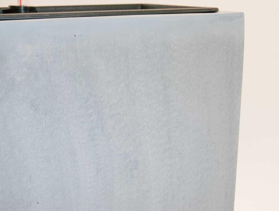 pflanzk bel blumenk bel fiberglas s ule 30x30x90cm grau. Black Bedroom Furniture Sets. Home Design Ideas