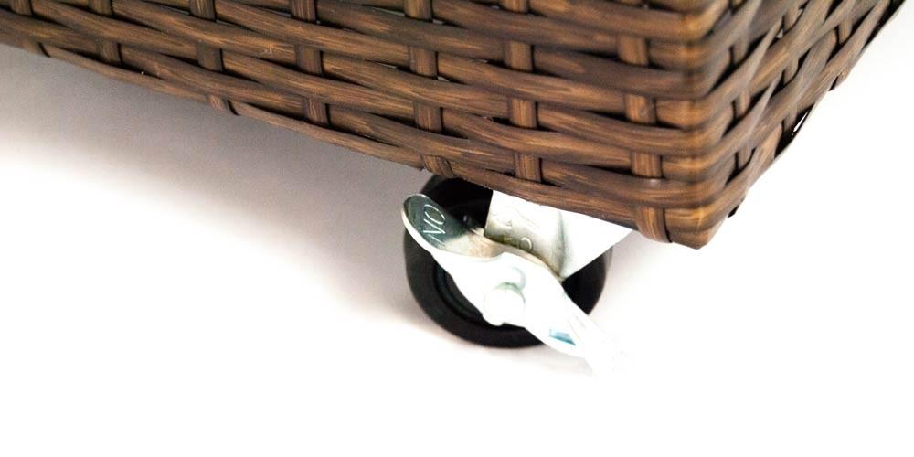 pflanzk bel pflanztrog polyrattan mit rankgitter 82x30x100cm mocca. Black Bedroom Furniture Sets. Home Design Ideas