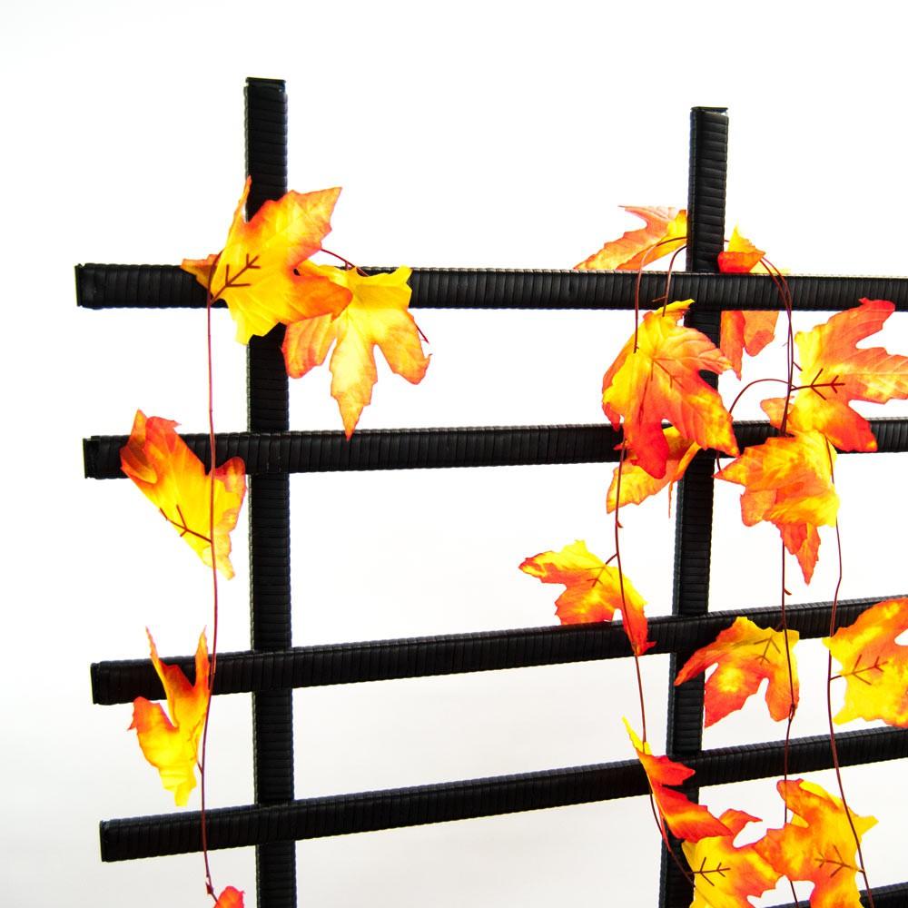 pflanzk bel pflanztrog polyrattan mit rankgitter 82x30x100cm schwarz. Black Bedroom Furniture Sets. Home Design Ideas