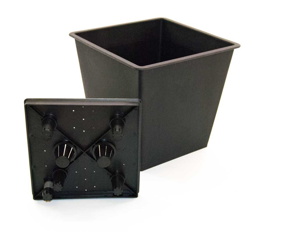 pflanzk bel fiberglas s ule konisch 38x38x100cm anthrazit. Black Bedroom Furniture Sets. Home Design Ideas
