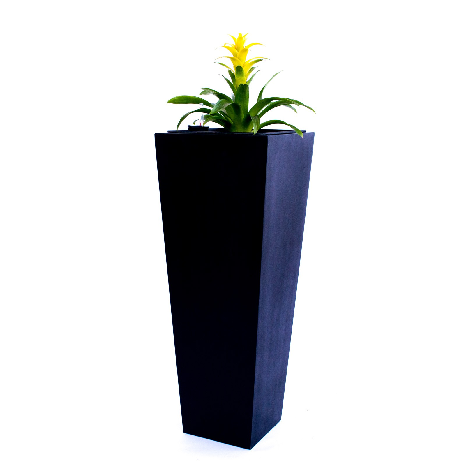 pflanzk bel blumenk bel fiberglas s ule konisch 38x38x100cm elegant schwarz matt. Black Bedroom Furniture Sets. Home Design Ideas